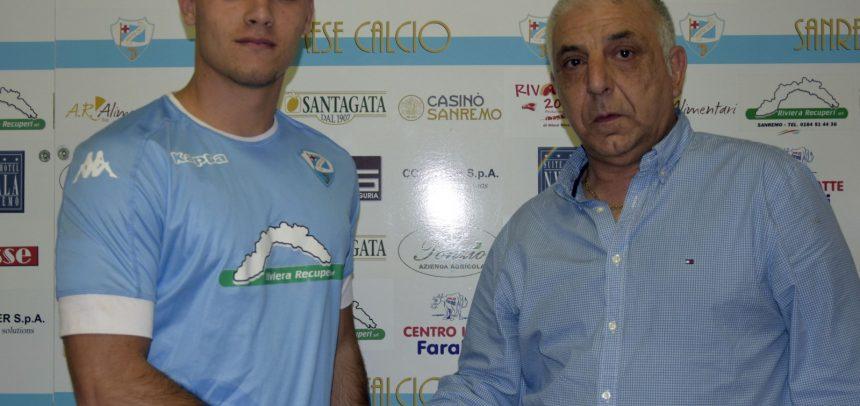 """Sanremese, ufficiale l'ingaggio del portiere classe '99 Simone Caruso:""""Prometto il massimo impegno, mi ispiro ad Alessio Cragno"""""""