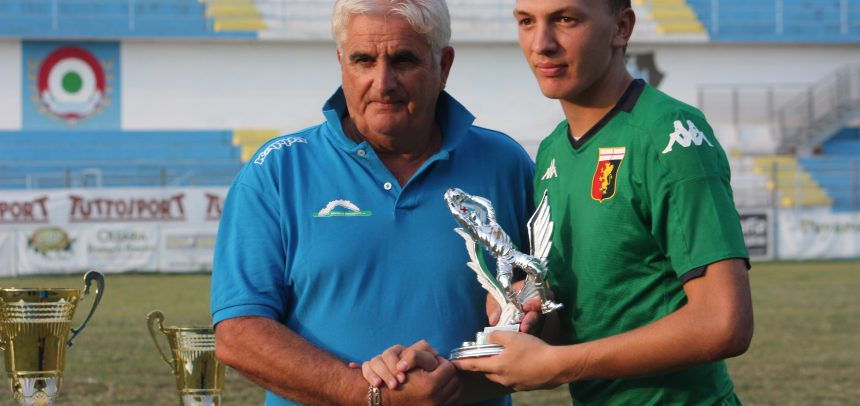 Niccolò Della Pina premiato come miglior portiere al 61° Torneo Internazionale Carlin's Boys