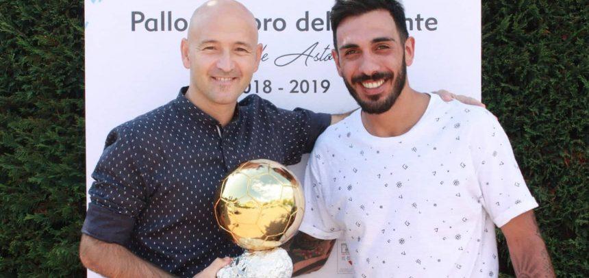 """Armando Miceli vince il Pallone d'oro del Ponente intitolato a Raffaele Astorino:""""Lo dedico a Jacopo Delogu"""""""