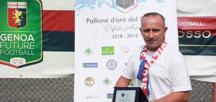"""Carmelo Luci premiato come miglior allenatore """"Senior"""" del Ponente 2018-19"""