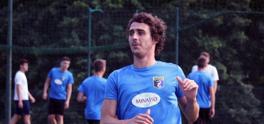 """Imperia-Sestri Levante 2-0, doppietta per super Edo Capra:""""Dedico i gol a mio figlio Tommaso"""""""