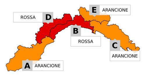 Allerta meteo arancione in provincia di Imperia: ecco tutte le partite a rischio rinvio