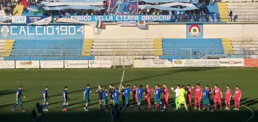 Sanremese-Seravezza Pozzi 1-1: non basta il gol del solito Scalzi