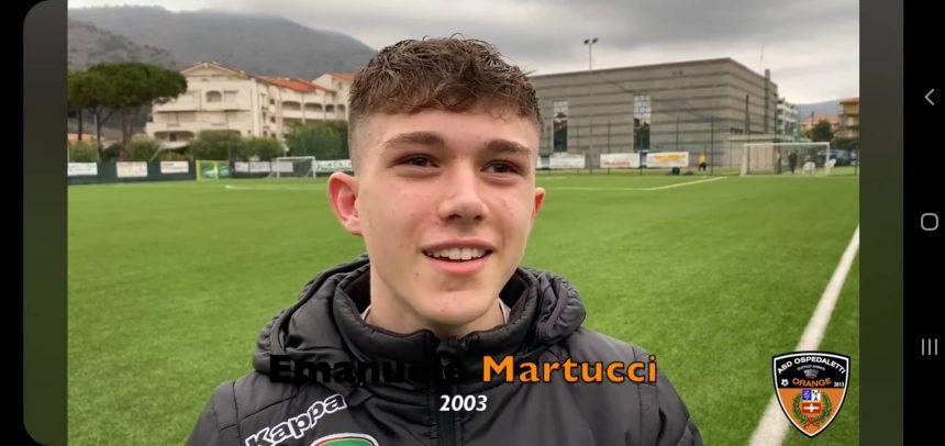 """Ospedaletti, esordio in Prima Squadra per il classe 2003 Emanuele Martucci:""""Sono contento, è andata benissimo"""""""