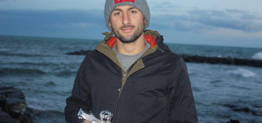 """Giuseppe Giglio è il miglior centrocampista del ponente 2019-20:""""Premio che mi ripaga di tanti sacrifici. Voglio il record di presenze con la maglia dell'Imperia"""""""