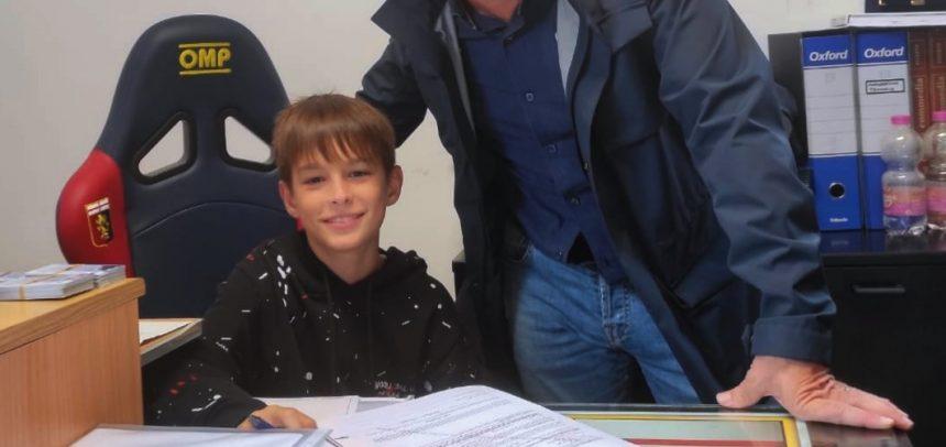 Sanremo, il classe 2010 Aron Kraja firma per il Genoa